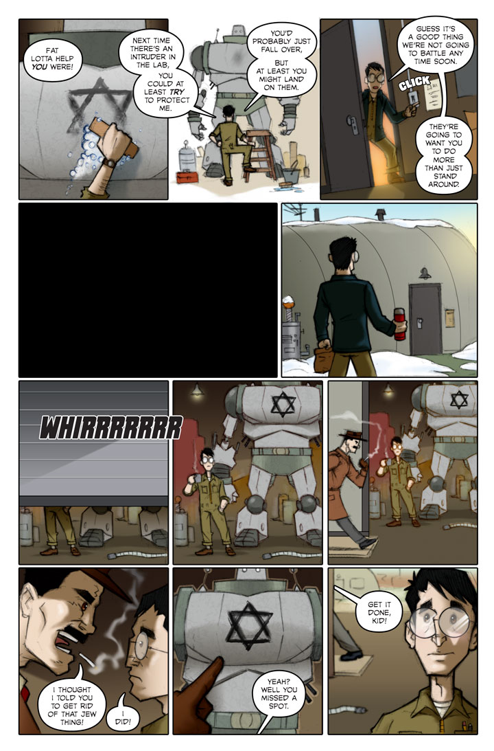 Page 140 of The Specialists, a WWII superhero webcomic