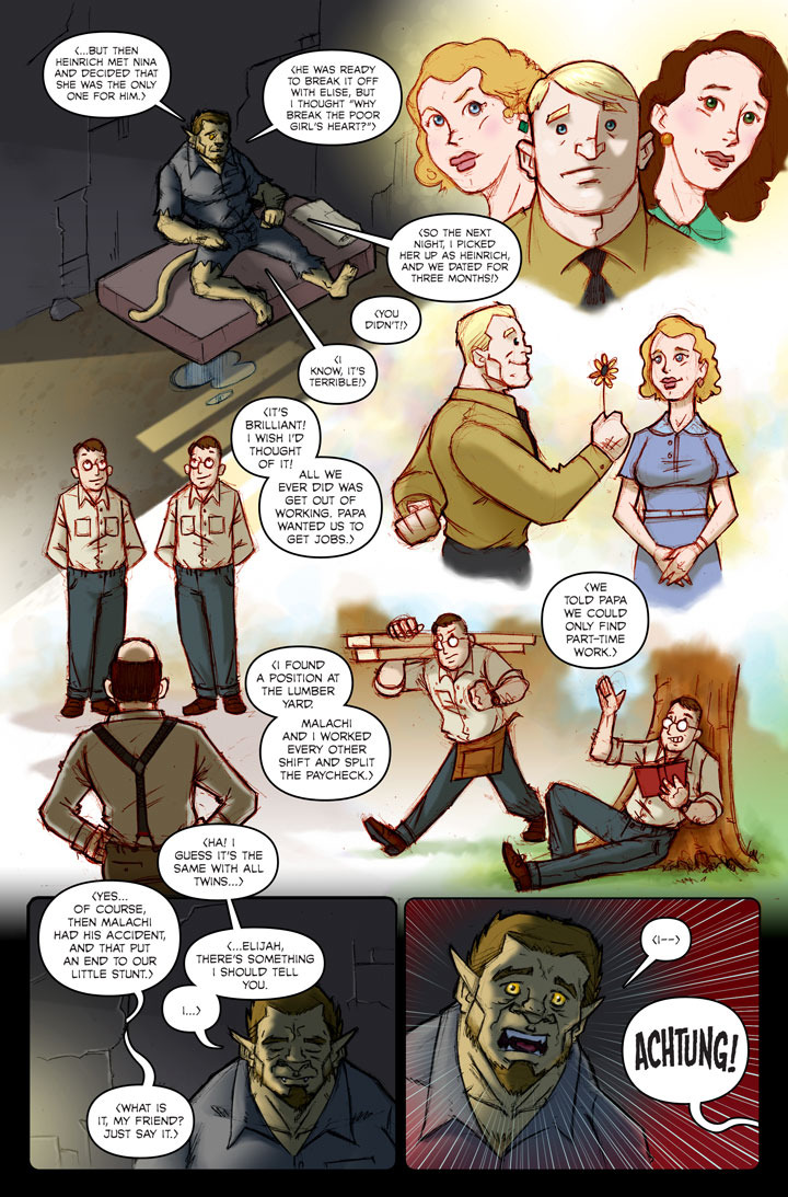 Page 141 of The Specialists, a WWII superhero webcomic