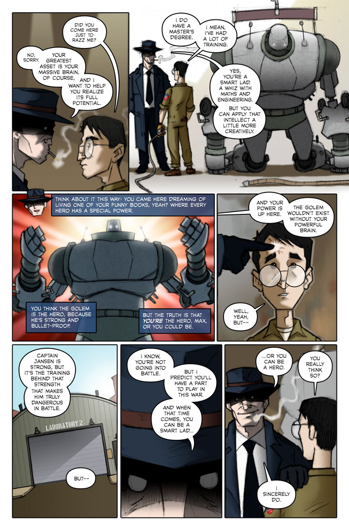 Page 148 of The Specialists, a WWII superhero webcomic