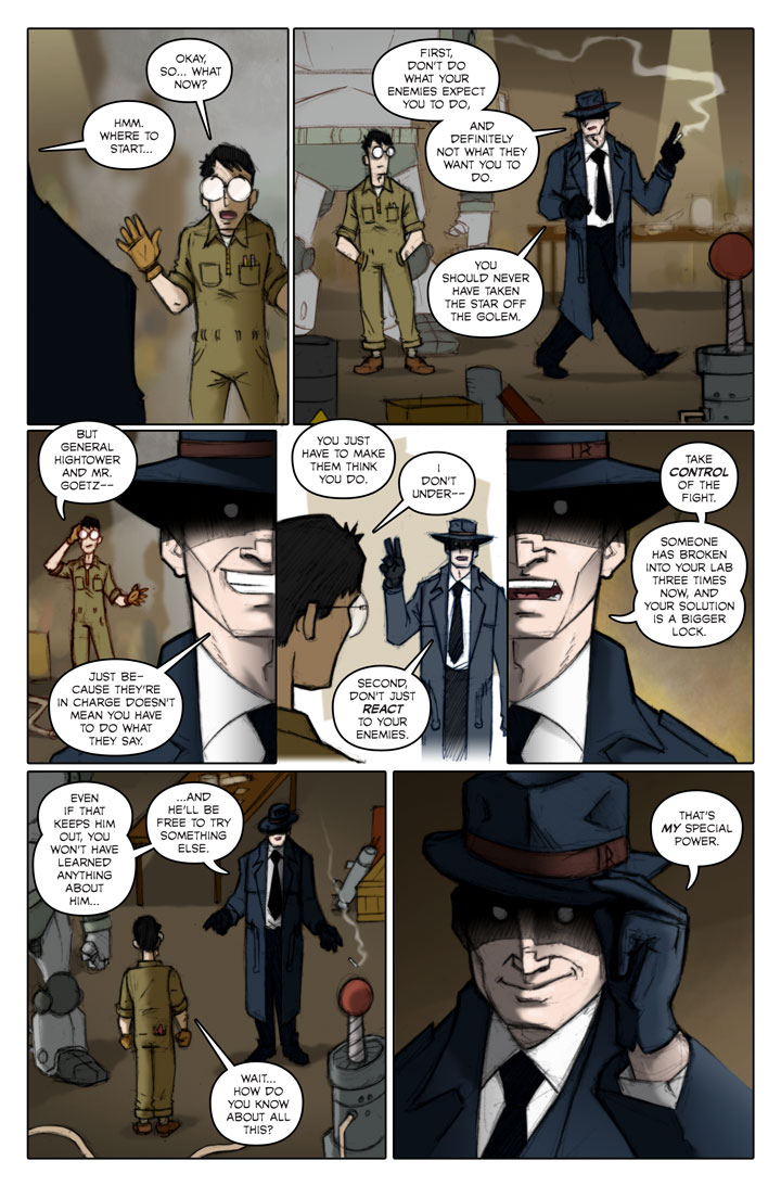 Page 149 of The Specialists, a WWII superhero webcomic